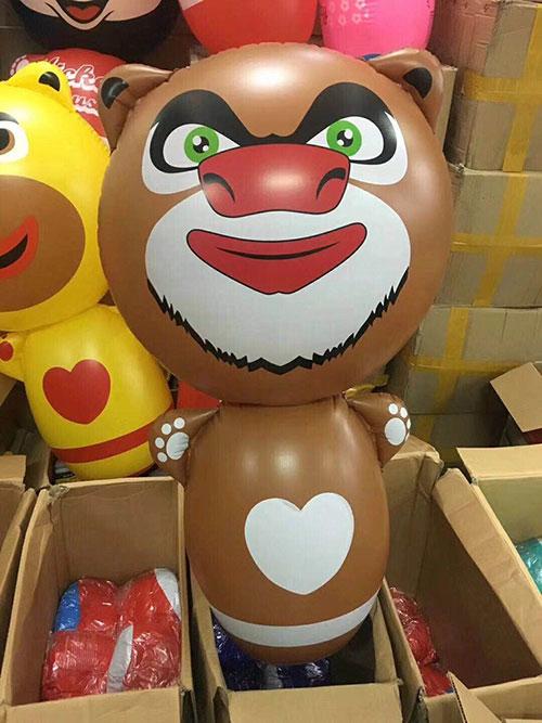 儿童卡通不倒翁批发,儿童玩具货源,充气不倒翁玩具大号96cm