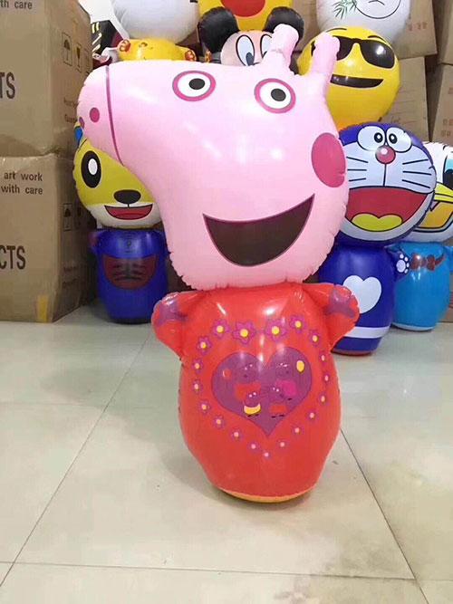儿童卡通不倒翁批发,儿童玩具货源,充气不倒翁玩具大号96cm-义乌地摊网