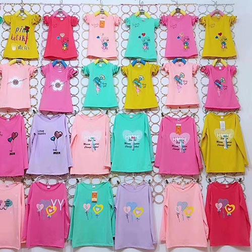 「地摊」钻龙地摊:儿童男童、女童全棉T恤--长袖,秋季儿童T恤货源