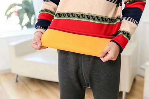 钻龙地摊:男士保暖套装,内胆黄金绒