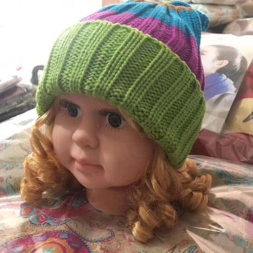 5元模式儿童帽子货源批发,摆地摊儿童帽子,毛线帽子