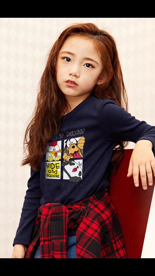 童装货源-快乐童年系列,儿童纯棉休闲上衣加厚4-10岁孩童