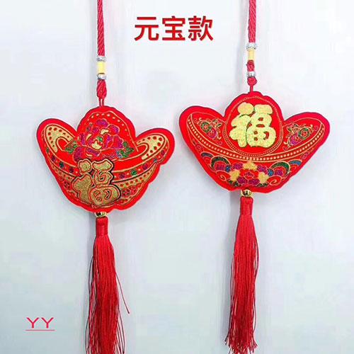吉祥六宝挂件,中国结挂件,摆地摊过年卖中国结