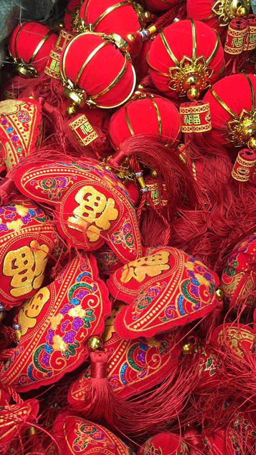 吉祥六宝挂件,中国结挂件,摆地摊过年卖中国结-义乌地摊网