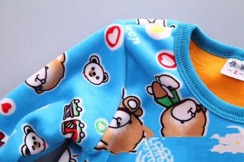 儿童黄金双面绒加厚套装,2-6岁儿童保暖套装-义乌地摊网