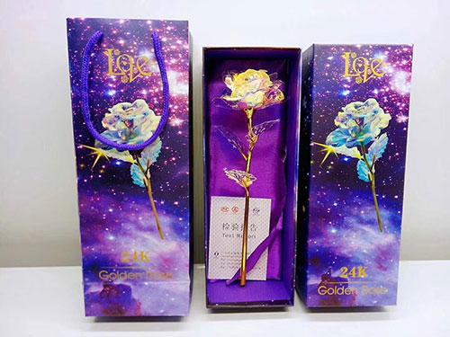 彩金变色玫瑰花批发,情人节送彩金变色玫瑰,彩金变色玫瑰厂家-义乌地摊网