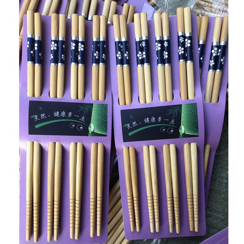 高档楠竹8双装印花筷子,适合礼品赠送-义乌地摊网