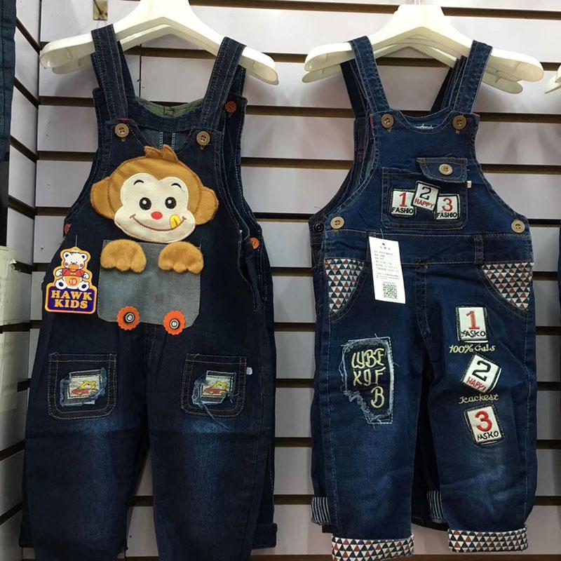 儿童背带长裤批发,春款儿童牛仔背带裤批发,义乌童装货源