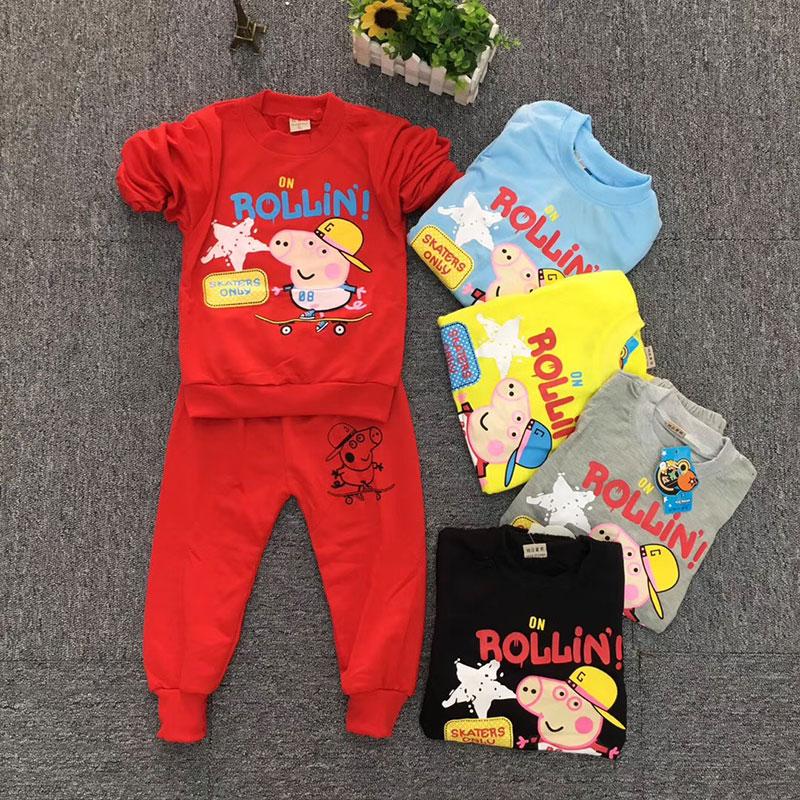 摆地摊阳光童年-儿童长袖套装,春秋款童装套装货源批发