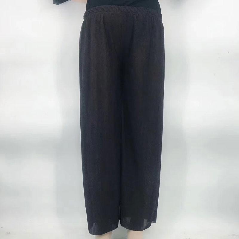 摆地摊20元跑量阔腿裤,美人条百皱阔腿裤批发。