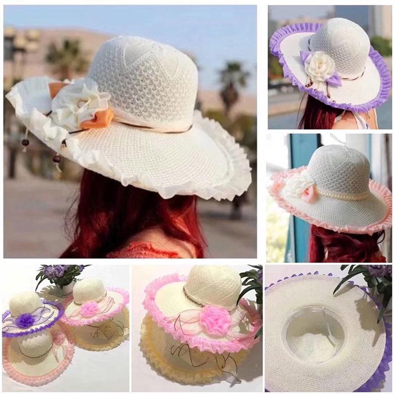 摆地摊时尚夏凉帽批发,夏天遮阳帽_旅游景点卖的好的女士草帽