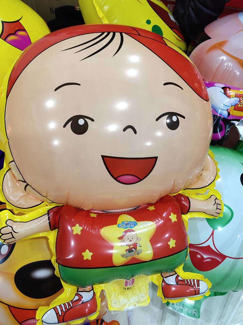 摆地摊儿童玩具卡通夹片气球(大号带铃铛),适合公园夜市广场摆摊的气球玩具