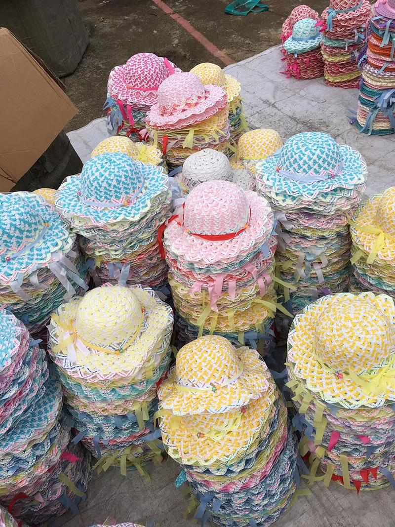 5元模式儿童夏凉帽,夏季公园摆摊杂款夏凉帽