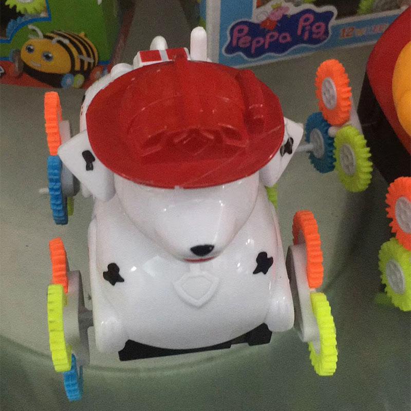 小宝贝翻斗车批发,儿童小汽车玩具货源,送广告布录音-义乌地摊网