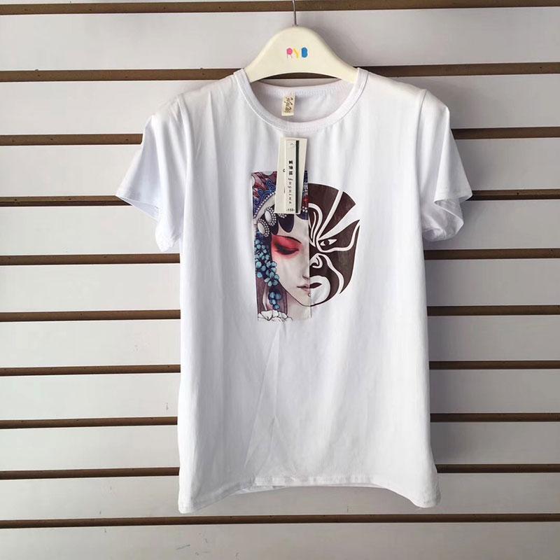 大童变色脸谱短袖T恤货源批发,冰瓷棉面料,阳光童年系列