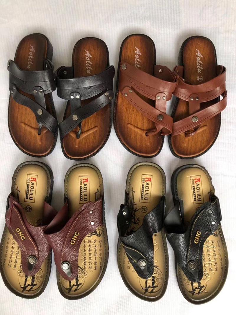皮革越南人字拖鞋,夏季农村跑量拖鞋-义乌地摊网