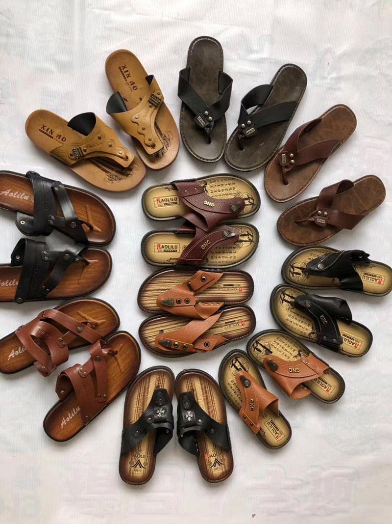 皮革越南人字拖鞋,夏季农村跑量拖鞋