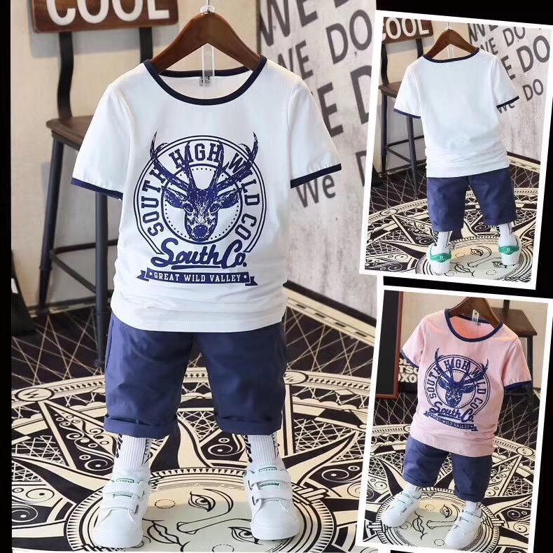 中大童短袖套装,夏季儿童服装货源批发