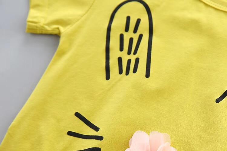可爱兔子女童T恤批发