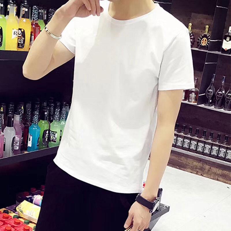 摆地摊光板白色T恤批发,莫代尔面料男女通穿
