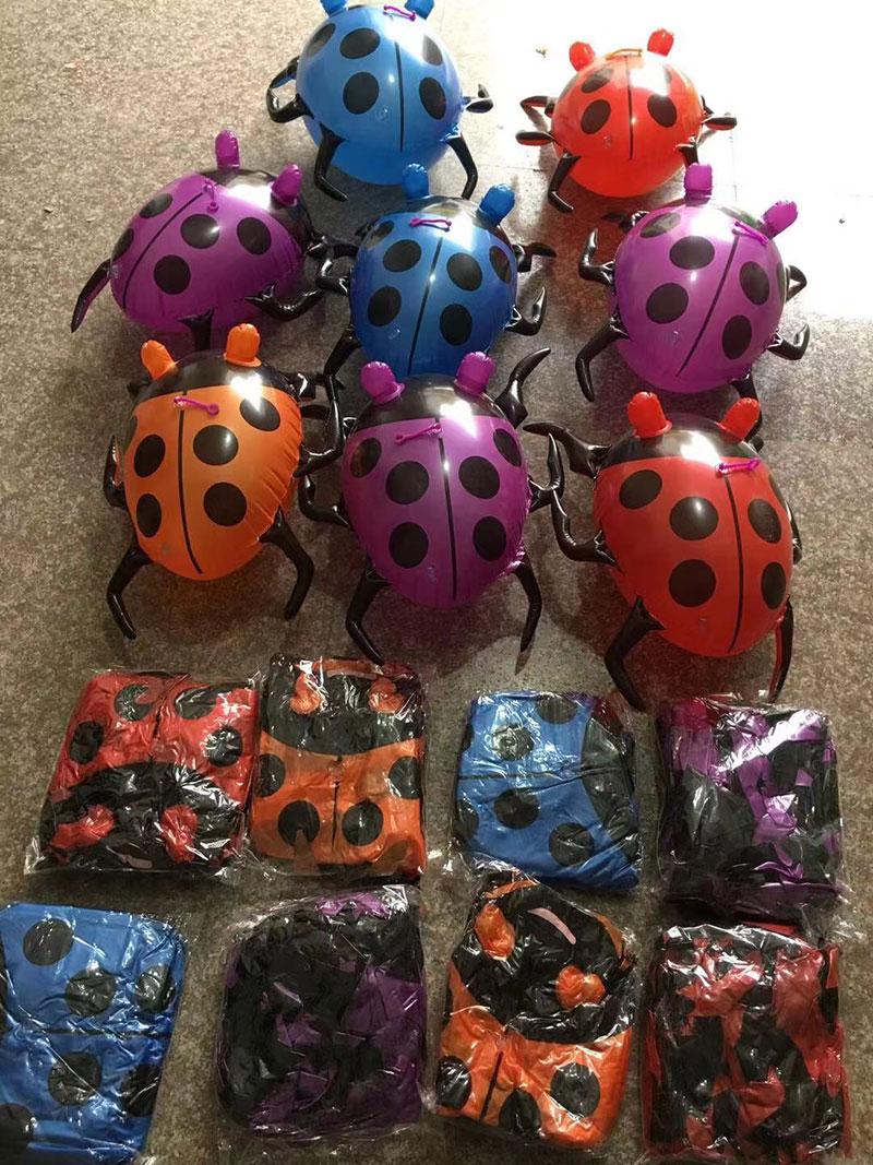 充气发光七星瓢虫(大号),眼睛发光的充气玩具