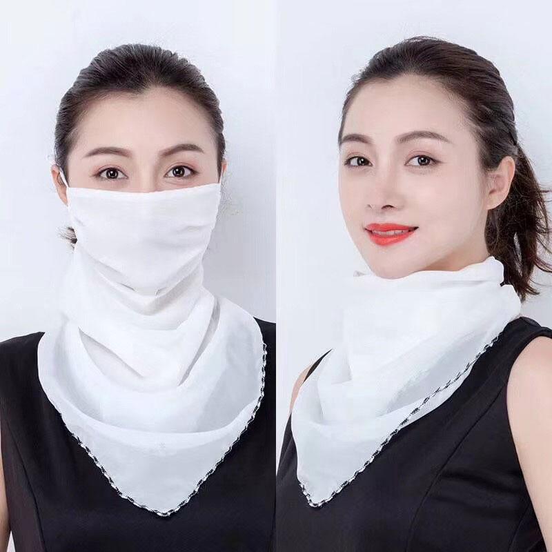 网红爆款防尘口罩,可防晒防尘二合一多功能丝巾口罩货源批发