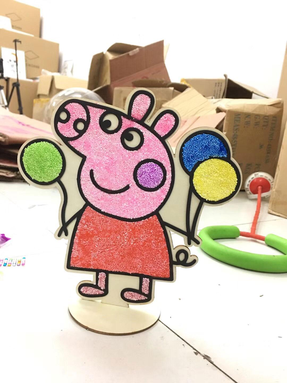 摆地摊靠地货源儿童益智立体木板画,抖音快手同款木版画,雪花泥木板画批发