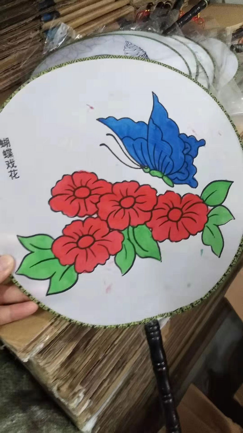 DIY儿童涂鸦扇子,适合公园、广场长期靠地售卖的产品-义乌地摊网
