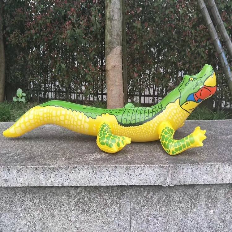 摆地摊夏季儿童充气鳄鱼玩具批发