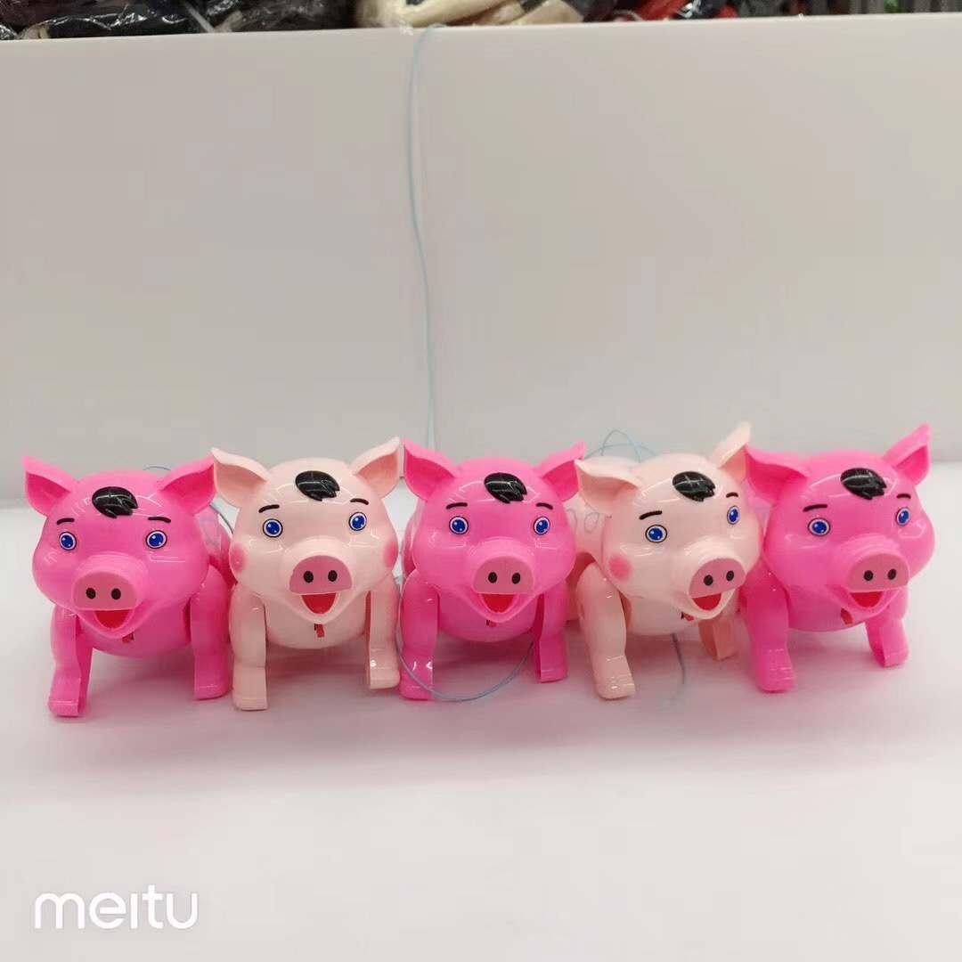 快手夏季夜市地摊电动音乐发光猪货源批发_发光玩具