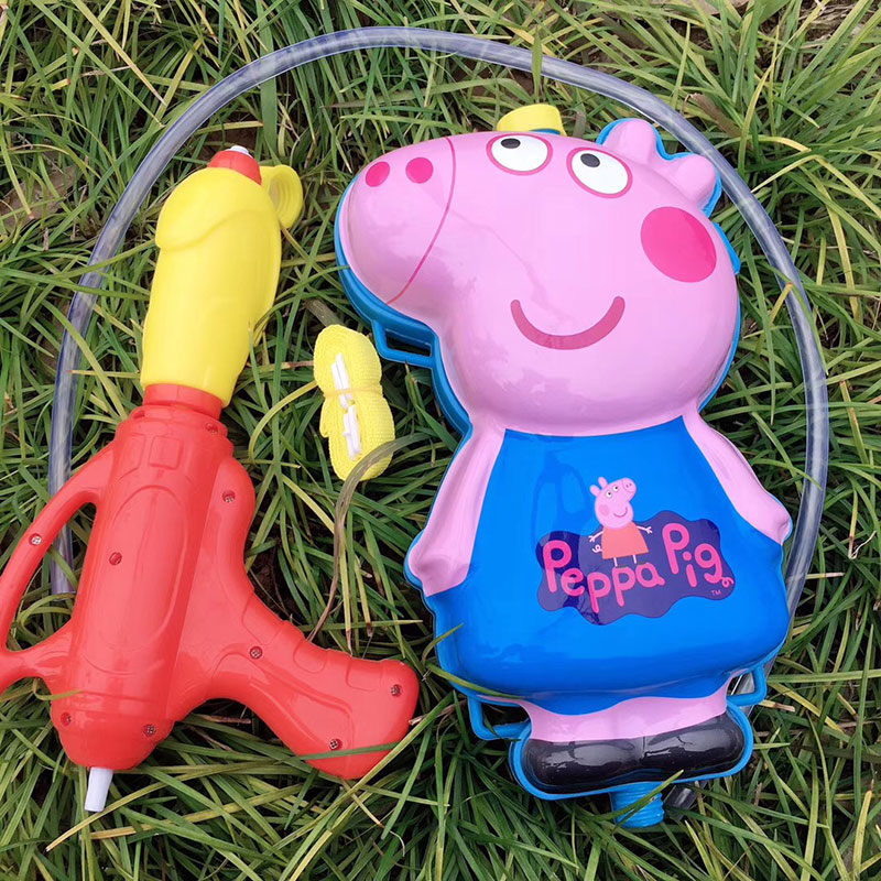 夏季摆地摊戏水玩具,小猪佩奇背包水枪货源批发
