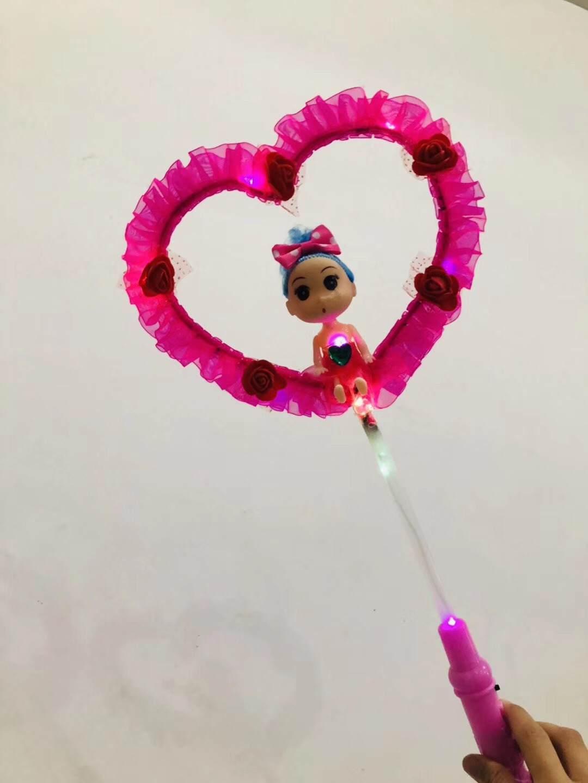 爱心娃娃仙女棒批发_发光玩具批发