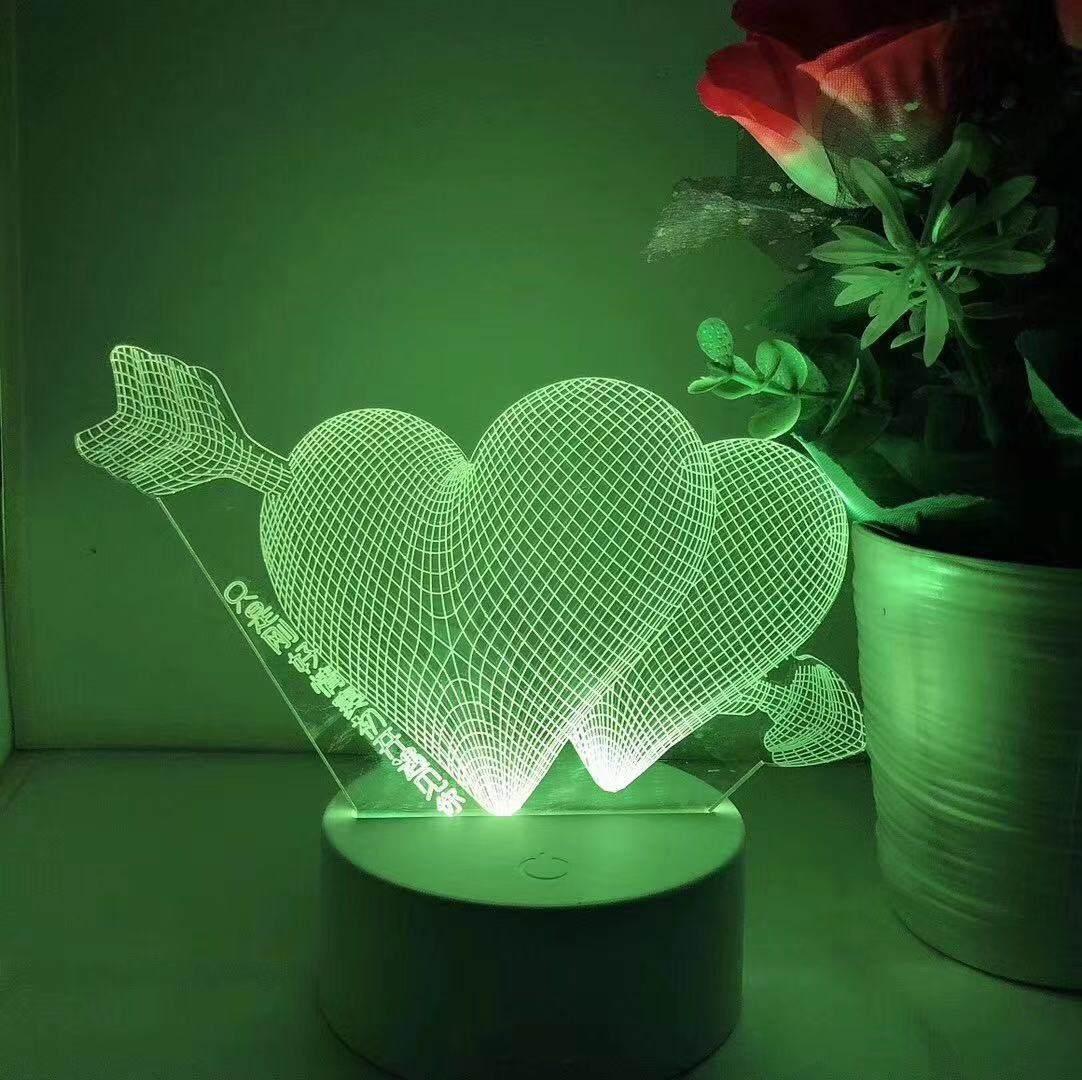 摆地摊3D小夜灯批发 3D小夜灯货源 3D小夜灯价格