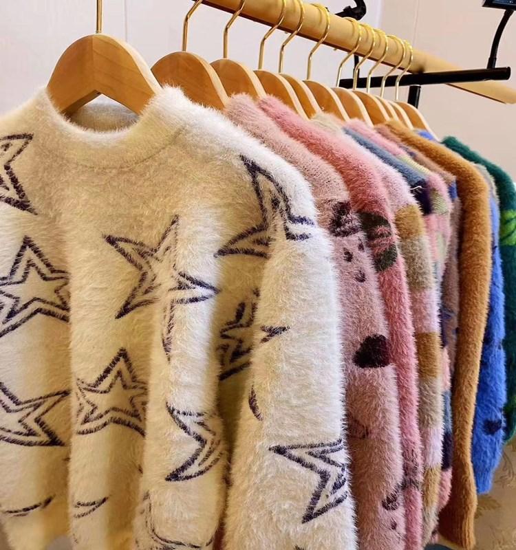 儿童一体水貂绒毛衣厂家批发 水貂绒毛衣多少钱