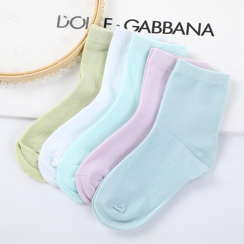 儿童糖果色童袜 1-4岁 4-8岁 8-12岁 摆地摊袜子批发