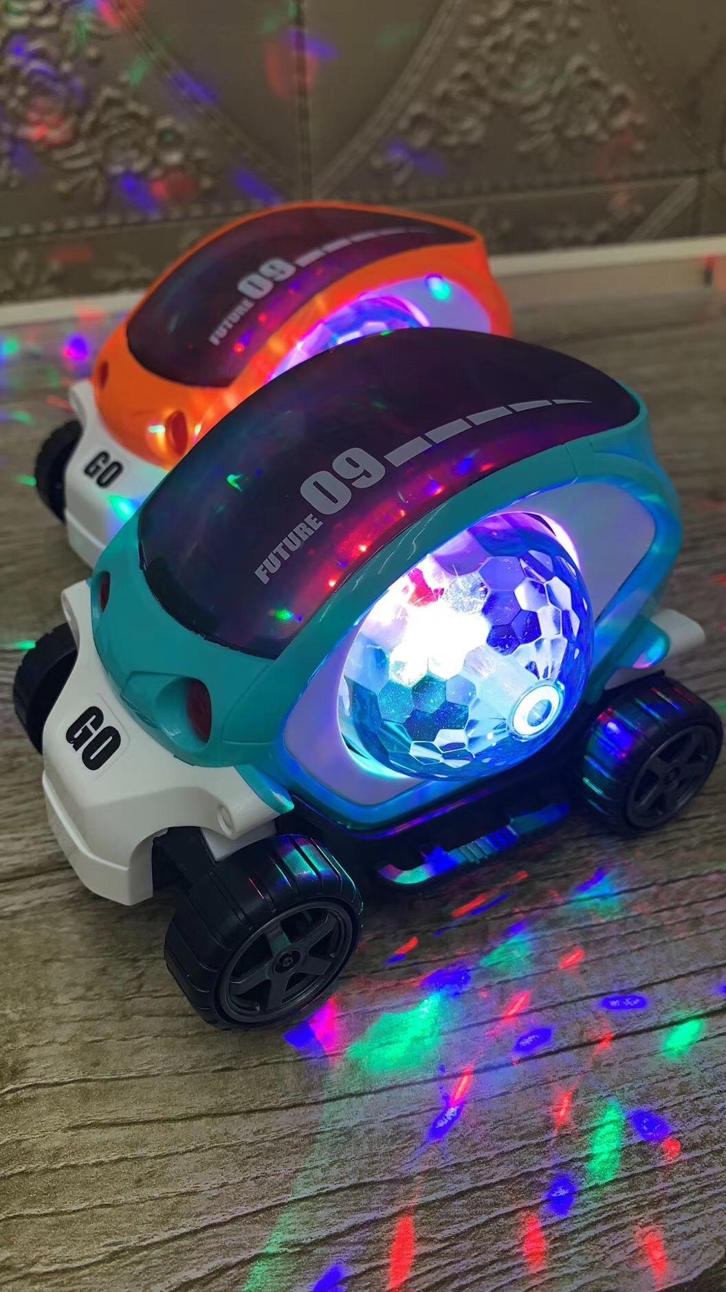 酷炫太空舱玩具车货源批发 夜市发光玩具车